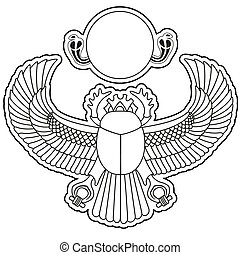 Scarab vector - silhouette logo scarab vector illustration...