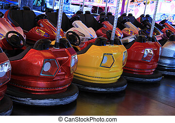 Dodgem cars in a row