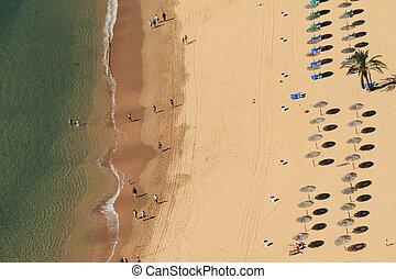 The Playa de Las Teresitas , beach near village of San...