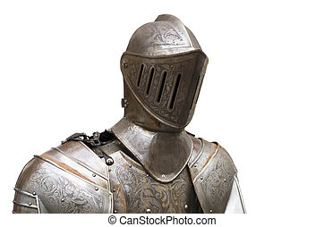 armor suit - upper part of a medieval full armor suit...