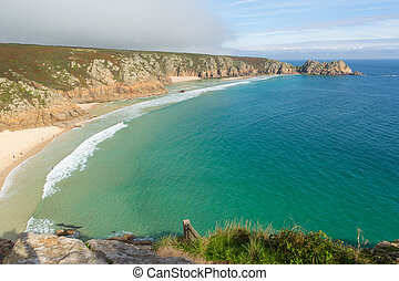 Porthcurno beach Cornwall UK - Autumn at Porthcurno beach...