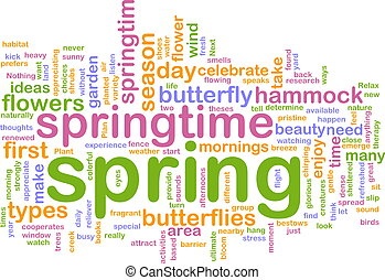 Spring wordcloud - Word cloud concept illustration of spring...