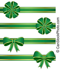Green bows - Set of green bows