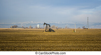 Oils Wells in Colorado Farm Country - These wells are found...
