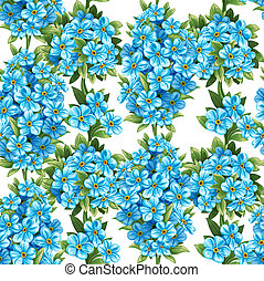 Seamless pattern of forget-me-not