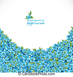 Spring background with forget-me-not