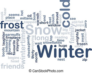 Winter wordcloud - Word cloud concept illustration of winter...