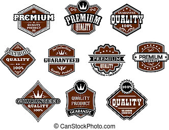 Collection of retro premium and quality labels - Collection...