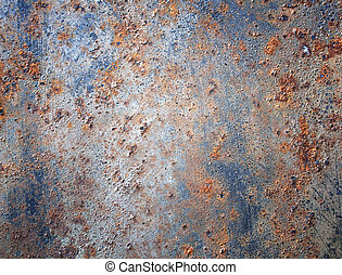 Old iron metal abstract wall black background.