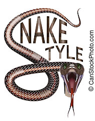Snake style - Inscription, Snake style, the letter S is...