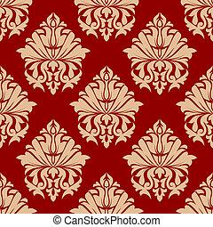 Retro damask style arabesque pattern - Retro damask style...