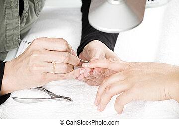 manicure, processo