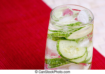 Cucumber Water - A tasty cucumber carbonated water beverage