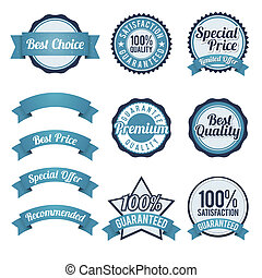 Badge and Ribbon Design Elements
