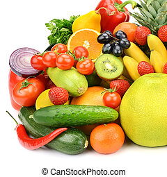 Collection of vegetables and fruits