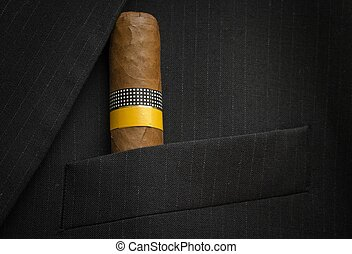 Exclusive Cigar in a suit jacket - One big and exclusive...