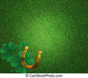 St Patricks Day Grass Background