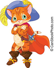 Puss in Boots - Puss in boots. Cartoon character