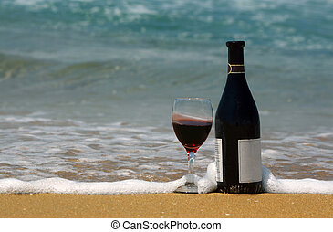 Wine at the beach