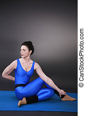 swivel seat - Woman doing yoga, swivel seat
