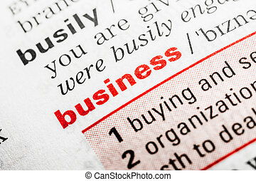 Business Word Definition