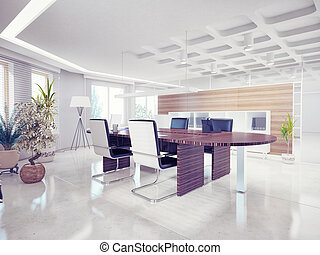 office interior - modern office interior. design concept