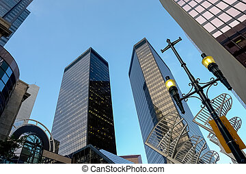 Skyscrapers in Calgary, Canada - Skyscrapers in Calgary over...