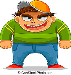 cartoon bully smiling maliciously