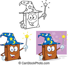 Happy Wizard Book Set Collection - Happy Wizard Book Cartoon...