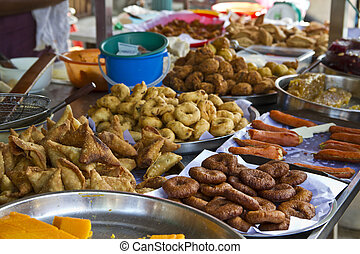 Street Food - Indian street food in India Town in Penang,...