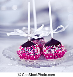 Homemade Cake Pops - Home made chocolate cake pop decorated...