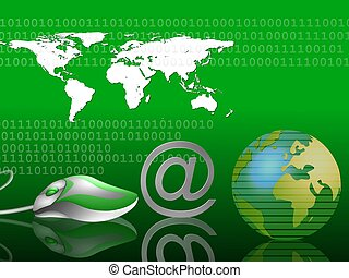email around the world green