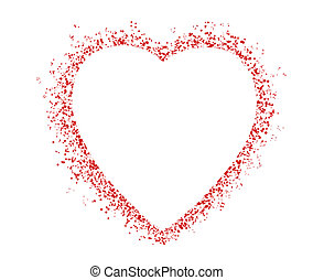 blank colorful symbol valentine day heart shape for text...