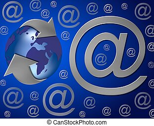 email around the world blue