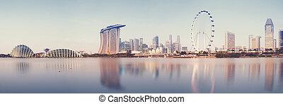 Singapore Skyline - Panoramic image of Singapore`s skyline...