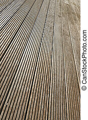 Terrace brown wood floor background