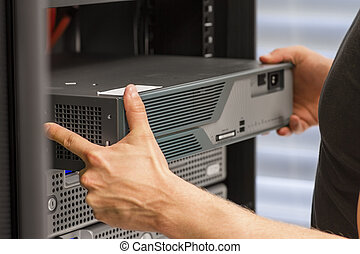 IT Consultant Install Network Router - It engineer...