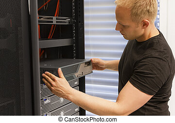 Installing Network Router - It engineer consultant install...