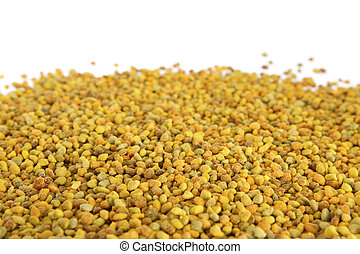 Raw Organic Bee Pollen - Bee pollen on white background. Bee...