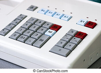 cash register with keys for the trade
