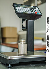 scales in the shop - electronic scales in the store with...