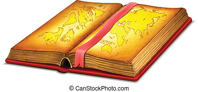 Opened Book Map