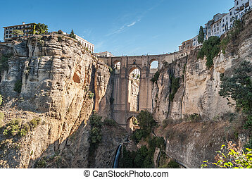 A beautiful Landscape of Ronda, Little Town in Andalusia,...