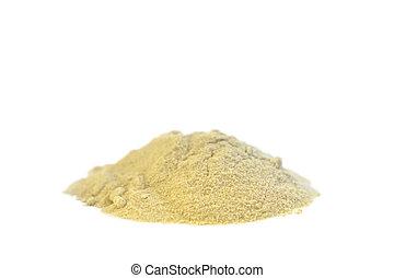 Lecithin powder - Pile of Lecithin on withe background