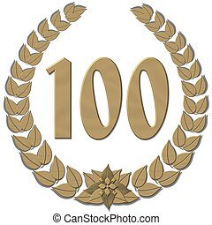 bronze laurel wreath 100