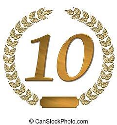 golden laurel wreath 10