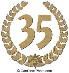 bronze laurel wreath 35
