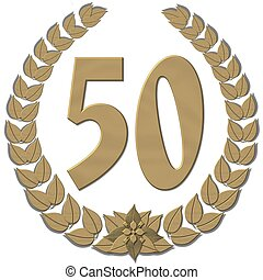 laurel wreath 50