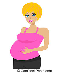 young pregnant woman