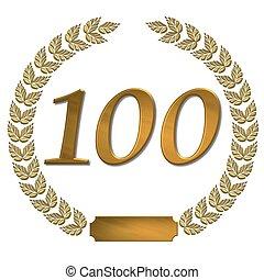 golden laurel wreath 100